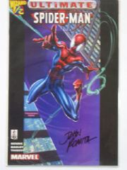 Ultimate Spider-man Wizard #1/2 Dynamic Forces Signed John Romita Sr DF COA Marvel comic book